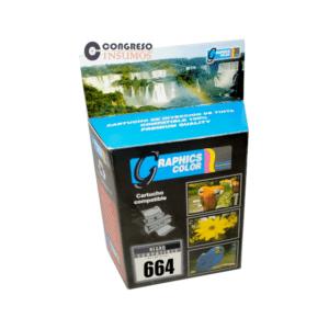 CARTUCHO RECICLADO HP 664N
