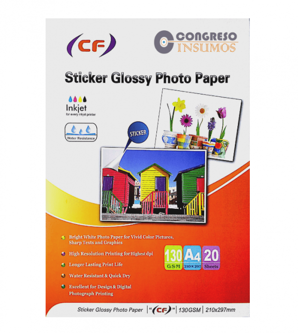 papel autoadhesivo glossy