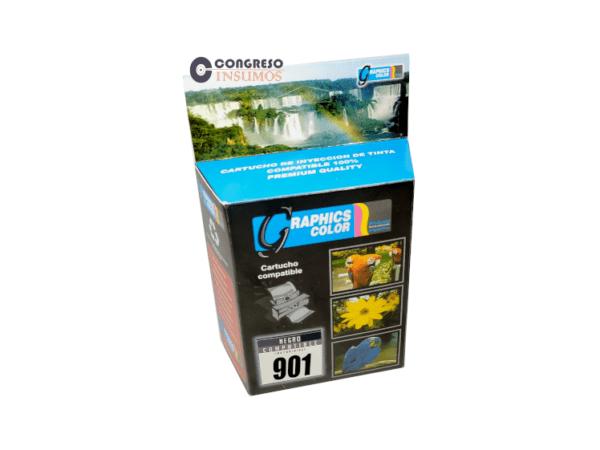 CARTUCHO RECICLADO HP 901 NEGRO